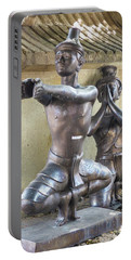 Thai Yoga Statues At Famous Wat Pho Temple Portable Battery Charger