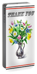 Thank You Spring Flowers Portable Battery Charger