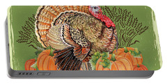 Portable Battery Charger featuring the painting Thanksgiving-b by Jean Plout