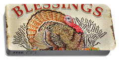 Portable Battery Charger featuring the painting Thanksgiving-e by Jean Plout
