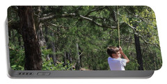 Portable Battery Charger featuring the photograph That Ole' Rope Swing by Kim Henderson