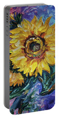 That Sunflower From The Sunflower State Portable Battery Charger