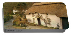 Thatched Cottage By Ford  Portable Battery Charger by Richard Brookes