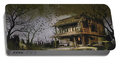 Portable Battery Charger featuring the painting The Abandoned House by Tithi Luadthong