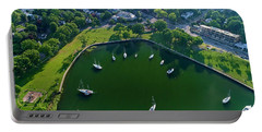 The Aerial View Of The Marina Of Mamaroneck Portable Battery Charger