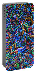 The After Party, Another Party - Chromatic Abstract Painting - Ai P. Nilson Portable Battery Charger