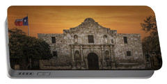 The Alamo Mission In San Antonio Portable Battery Charger by Randall Nyhof