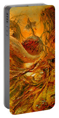 Portable Battery Charger featuring the painting The Alchemist by Henryk Gorecki