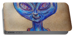 The Alien Is L-i-v-i-n Portable Battery Charger