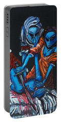 Portable Battery Charger featuring the painting The Alien Judith Beheading The Alien Holofernes by Similar Alien