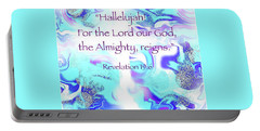 The Almighty Reigns Portable Battery Charger by Yvonne Blasy