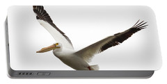 Portable Battery Charger featuring the photograph The Amazing American White Pelican by Ricky L Jones