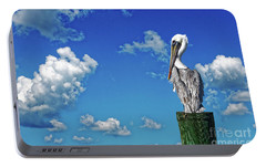 Portable Battery Charger featuring the photograph The American Brown Pelican by Paul Mashburn