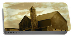 The Amish Silo Barn Portable Battery Charger