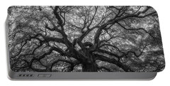 The Angel Oak Tree Bw  Portable Battery Charger