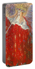 The Angel Of Life Portable Battery Charger by Annael Anelia Pavlova