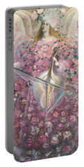 The Angel Of Love Portable Battery Charger by Annael Anelia Pavlova