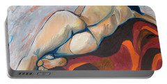 The Anguish Of Love Portable Battery Charger by Esther Newman-Cohen