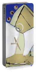 Portable Battery Charger featuring the painting The Arc by Michal Mitak Mahgerefteh