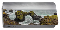 Portable Battery Charger featuring the photograph The Arch At Gatklettur by Rikk Flohr
