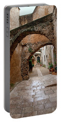 The Archways Of Villecroz Portable Battery Charger by Jacqi Elmslie