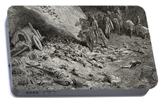 The Army Of The Second Crusade Find The Remains Of The Soldiers Of The First Crusade Portable Battery Charger by Gustave Dore
