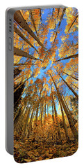 Portable Battery Charger featuring the photograph The Aspens Above - Colorful Colorado - Fall by Jason Politte