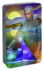 Portable Battery Charger featuring the digital art The Atlantean by Shadowlea Is