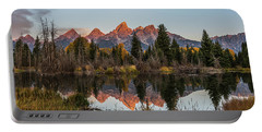 Portable Battery Charger featuring the photograph The Autumn Glow At Schwabacher's by Yeates Photography