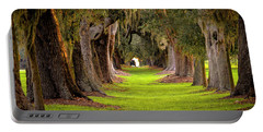Portable Battery Charger featuring the photograph The Avenue Of Oaks 4 St Simons Island Ga Art by Reid Callaway