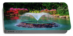 The Azalea Pond At Honor Heights Park Portable Battery Charger