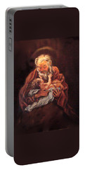 Portable Battery Charger featuring the painting The Baby Jesus - A Study by Donna Tucker