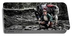 Portable Battery Charger featuring the photograph The Back Country Guardian by Brad Allen Fine Art