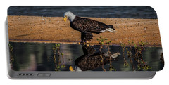 Portable Battery Charger featuring the photograph The Bald Eagle by Mitch Shindelbower