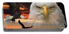 Portable Battery Charger featuring the photograph The Bald Eagle by Shane Bechler