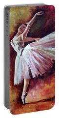 The Dancer Tilting - Adaptation Of Degas Artwork Portable Battery Charger