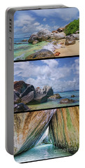 The Baths Virgin Gorda National Park Triptych Portable Battery Charger