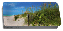 The Beach At Pine Knoll Shores Portable Battery Charger by John Harding