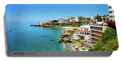 Portable Battery Charger featuring the photograph The Beach - Nerja Spain by Mary Machare