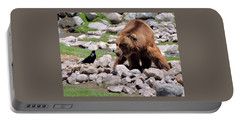 The Bear And The Crow By Suze Portable Battery Charger