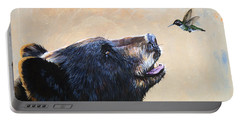The Bear And The Hummingbird Portable Battery Charger