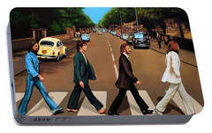 The Beatles Abbey Road Portable Battery Charger by Paul Meijering