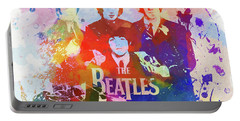 The Beatles Paint Splatter  Portable Battery Charger