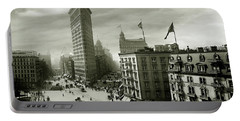 The Beautiful Flatiron Building Circa 1902 Portable Battery Charger by Jon Neidert