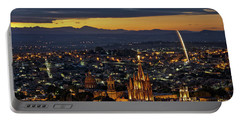 The Beautiful Spanish Colonial City Of San Miguel De Allende, Mexico Portable Battery Charger