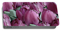 The Beauty And Depth Of A Bed Of Tulips Portable Battery Charger