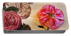 The Beauty Of A Dried Rose Portable Battery Charger