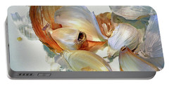 The Beauty Of Garlic Portable Battery Charger by Lynda Lehmann