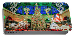 The Bellagio Christmas Tree Panorama 2017 Portable Battery Charger