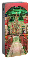 The Bellagio Christmas Tree Under The Arch 2017 Portable Battery Charger